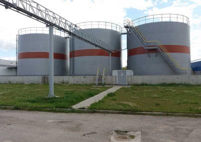Skystų trąšų sandėlio su priklausiniais statyba Šeduvos agrocentre adresu Geležinkelio stoties 9A, Šeduva, Radviliškio r.